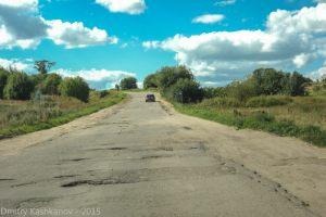 Ямы на дороге в город Горбатов