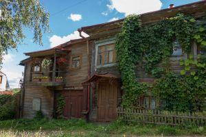 Деревянный дом на улице Горбунова в Горбатове