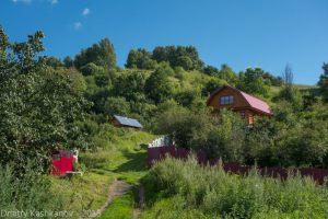 Деревянные домики на горах