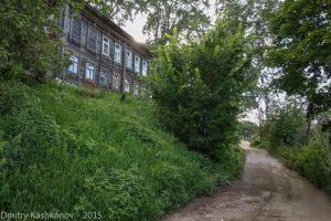 Деревянный многоквартирный дом в городе Горбатов