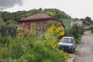 Красивые цветы у дома. Город Горбатов