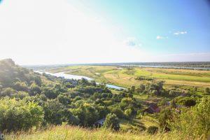 Город Горбатов. Вид с правого высокого берега реки Оки