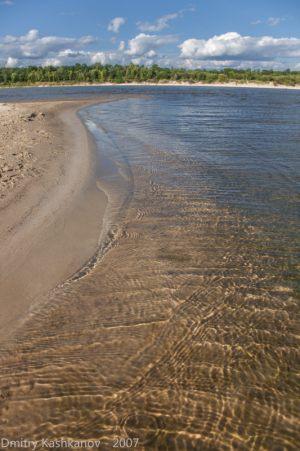 Чистый песчаный пляж. Летнее фото