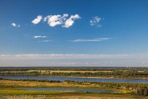 Пойма реки Ока. Фото с поляризационным фильтром