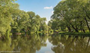 Летняя фотография реки Трубеж. Переславль-Залесский