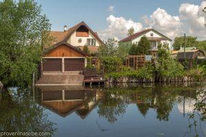 Фотография реки Трубеж. Домики с выходом к воде. Переславль-Залесский