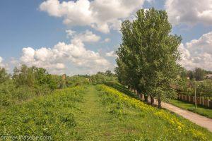 Вид с земляного вала. Переславль-Залесский. Фото