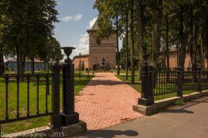 Суздаль. Свято-Ефимьев монастырь. Вид с улицы Ленина