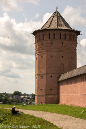 Башня монастыря. Не забудьте потом сходить к ней. Отличный вид с откоса