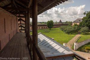 Монастырская стена. Вид влево от главной башни