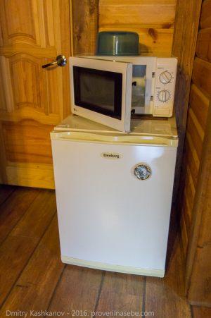 Холодильник и микроволновая печь. Гостевой дом Веры Федоровны