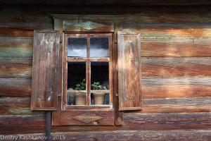 деревянные рамы, наличники, ставни