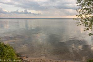 Отражение облаков в Плещеевом озере. Переславль Залесский. Фото