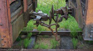 Музей паровозов в Переславле-Залесском. Вагонная сцепка
