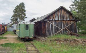 Музей паровозов в Переславле-Залесском. Часть экспозиции - старая станция
