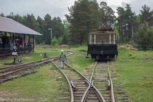 Музей паровозов в Переславле-Залесском. Настоящая узкоколейка со стрелками