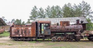 Музей паровозов в Переславле-Залесском. Узкоколейный паровоз