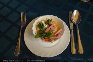Салатик из квашенной капусты. Ресторан гостиницы Болдино