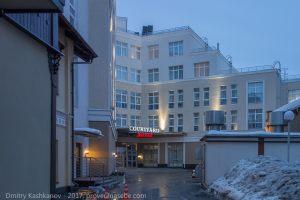 Главный вход в отель Кортъярд Мариотт. Нижний Новгород
