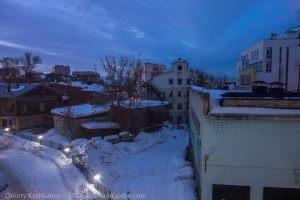 Вид из окна. Отель Кортъярд в Нижнем Новгороде