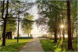 Закат над Горьковским морем