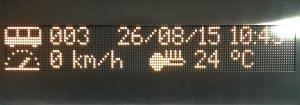 Информационное табло в коридоре купейного вагона