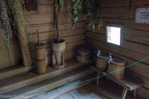 Интерьер деревянного дома в музее. Нижний Новгород