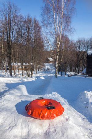 Музей на Щелковском хуторе. Ледяная горка для детей