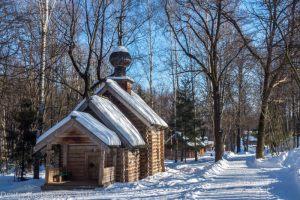Фотография деревянной церкви. Покровская церковь. Щелковский хутор. Музей