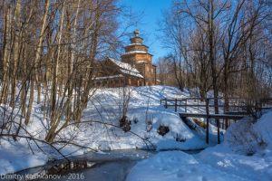 Покровская церковь. Музей деревянного зодчества. Нижний Новгород