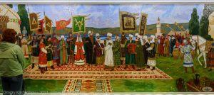 Мозаичное панно. Принятие Ислама волжскими булгарами. Памятный знак. Экскурсия из Казани в Болгар