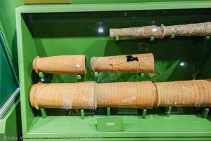 Фрагменты водопроводных и канализационных труб. Музей болгарской цивилизации