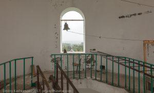 Верхняя площадка колокольни Успенской церкви в Большом Болдино