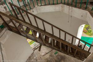 Лестница на верхнюю площадку колокольни