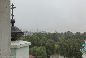 Вид на гостиницу Болдино с Успенской церкви