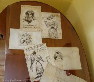 Рисунки А.С.Пушкина. Невеста и теща
