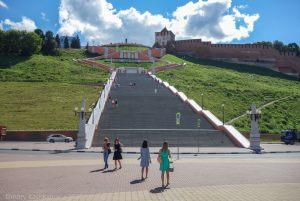 Чкаловская лестница. Достопримечательности Нижнего Новгорода фото