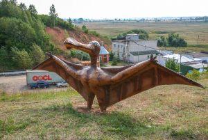 Пешенань. Зоопарк. Фигура динозавра