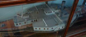 Колесный пароход Индустриализация. Вид сверху
