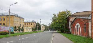 Кронштадт. Макаровская улица. Вид на Морской завод