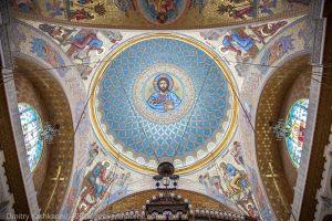 Изображение на главном куполе. Никольский Морской собор в Кронштадте. Фото