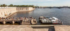 Петропавловская крепость. Невская панорама фото. Невские ворота