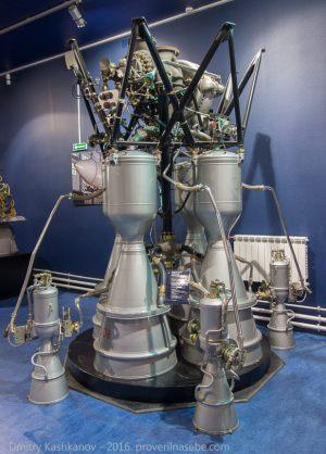 Жидкостный ракетный двигатель РД-108. Музей космонавтики и ракетной техники. Санкт-Петербург