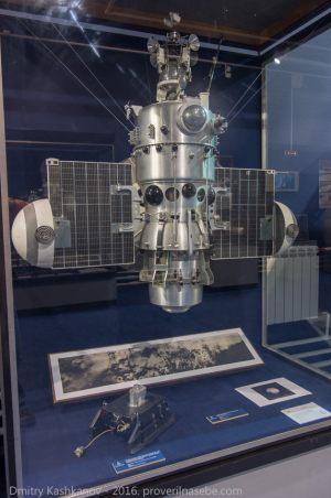 Макет станции Луна-9. Музей космонавтики и ракетной техники. Санкт-Петербург