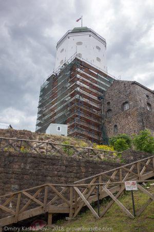 Выборгский замок. Реставрация башни Олафа