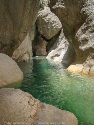 Каньон реки Гейнюк. Турция. Фото
